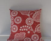 Cushion Cover Red and Cream