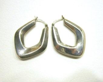 Sterling Pierced Earrings Casual Silver Signed 925