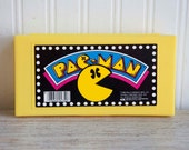 80s Pacman Pencil Case, Retro Video Gaming, Vintage Pencil Case, Bright Yellow Hard Case, Bally Midway, 1980s Pac-Man, Old School Kids