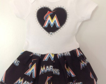 Miami Marlins Inspired Dress