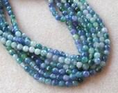Blue Green, Jade Beads, Gemstone Beads, Jewelry Making Beads, Beads for Designing, Jade Beads, Craft Supply, Jewelry Supply, Ball Beads, (1)