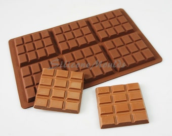 6 cell 12 Section Chocolate Bar 65g Candy Professional Chocolatiers Silicone Mould Mold N077