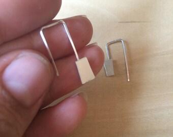 Sterling Silver Scrap Earrings