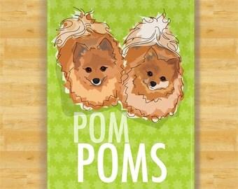 Pomeranian Fridge Magnet - Pom Poms - Pomeranian Gifts Dog Refrigerator Magnets