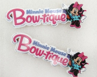 Minnie Mouse Bowtique Resin Flat back, Resin Flat back, MM Resin, School bows, Hair bows, Bows, Headbands, Bow Center