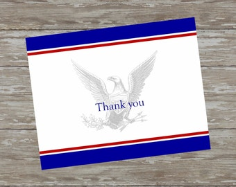 Simple Scout folded thank you cards - set of 15 with white envelopes