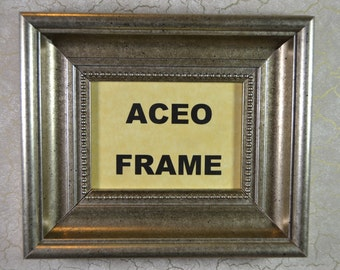ACEO Photo Frame * Brushed Silver Picture Frame * Frame for ACEO