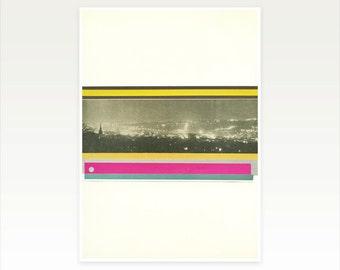 Abstract Cityscape, Urban Art Print - City Lights