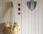 haversack yellow - rustic style messenger bag - australia