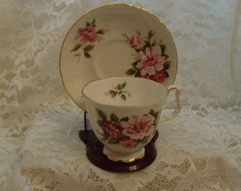 Royal Albert Footed Cup and Saucer, Sonnet Series, Bone China