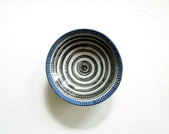 Ceramic Bullseye Jewelry Dish