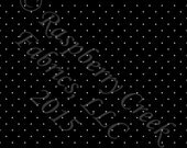 Black and White Pin Dot 4 Way Stretch ORGANIC Jersey Knit Fabric, Club Fabrics