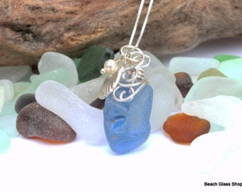 Genuine Sea Glass - Caribbean Sea Glass - RARE Cobalt Blue Sea Glass