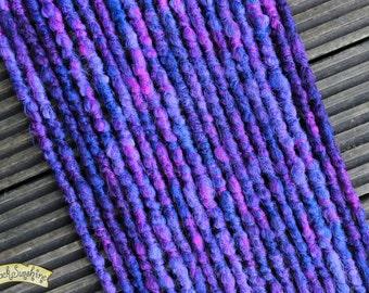 Purple and Blue DE x10 Crochet Synthetic Dreads