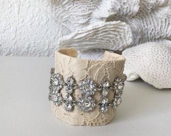Cream Bridal Cuff
