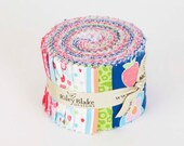 Flutterberry,  Jelly Roll, Rolie Polie, by Riley Blake,  18, 2.5 inch strips