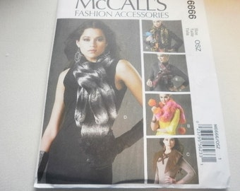 Pattern Ladies Girls Neck Wraps 5 Styles McCalls 6666