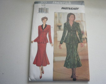 Pattern Vintage 1993 Ladies Jacket and Skirt Sizes 6 to 10 Butterick V-3153