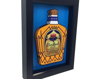 Crown Royal Bottle 3D Art Home Decor Kitchen Decor Liquor Bottle 3D Pop Art Print