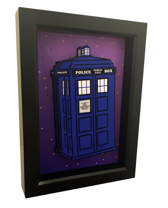 Doctor Who TARDIS London Blue Police Box 3D Art Dr. Who Print
