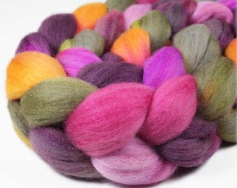 SEPTEMBER IRIS Polwarth/Silk Roving - 4.0 oz