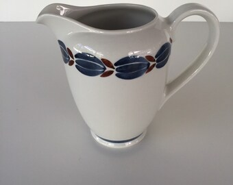 Arabia Finland Ceramic Pitcher/Norway Pottery/Mid Century Stoneware Pitcher/ Hand Painted Pitcher/Large Pitcher/ c.1950's By Gatormom13