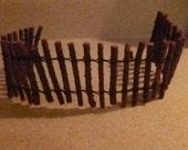 Fairy Garden Miniature Wood Fence Bendable