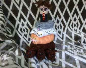 Crochet Harry Potter Stacker Baby Rattle Toy