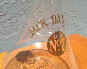 Vintage Jack Daniel's No. 7 Bottle Shot Glass Glass Decanter Whiskey