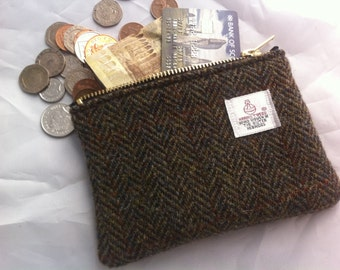 Harris tweed charger case, USB case, charger pouch USB pouch  tweed pouch