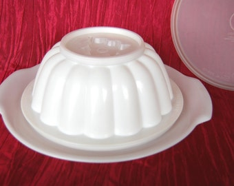 Vintage Tupperware Jel N Serve Jello Molds Jelly Molds Gelatin Molds with Star Tree Heart and Tulip Impression Seal