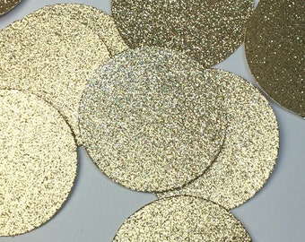 Large Gold Circles, 2in Circle Die Cuts, Paper Circles, Gold Glitter Circles, Cardstock Circles, Gold Dots, Gold Party supplies