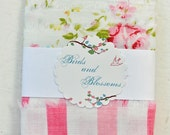 vintage sheet, fabric ribbon, embellishment, vintage style, packaging, shabby chic