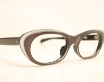 Vintage Eyewear Small Brown Cat Eye Glasses Unused Cat Eye Eyeglasses