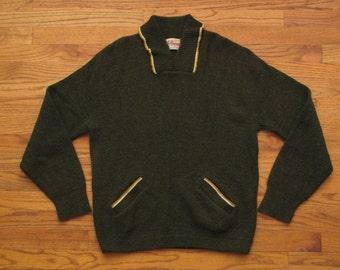 mes vintage Bud Berma shawl collar sweater