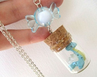Pokémon Necklace - LAPRAS and RARE CANDY- Toy in a Bottle - Gamer Gear