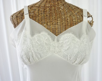 Ginger Rogers Lingerie Bridal Perfection Chantilly Lace Chiffon Dress Slip by 38 Tall