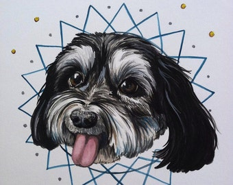 Custom Pet Portraits Watercolor 8x10 inches