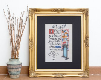 JK Rowling Quote Fine Art Print: It Does Not Do to Dwell on Dreams and Forget to Live
