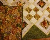 Romantic Floral Bed Quilt