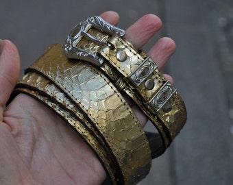 Vintage Snake-Skin Belt