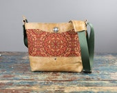 NEW Leather Camera bag - Mandala Convertible Handbag with Insert - IN STOCK