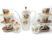 Vintage Myott Ironestone Tea Set , Myott's Fine White Ironstone Staffordshire England
