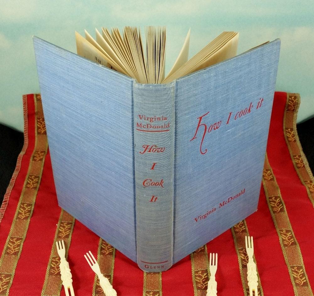 Mcdonald Tea Room Cookbook