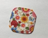 """Cloth Panty Liner All In One Cotton Fleece 6.5"""" Spring Garden Floral"""