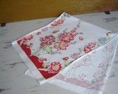 Vintage Floral Kitchen Linen Table Runner Dish Towel Heavy Cotton Rectangular Table Topper