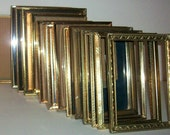 "16 Medium Vintage Gold 5"" X 7""  Picture Frames Wedding Decor"