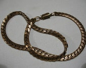 Vintage Brass Choker Chain Necklace