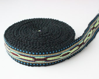 Uzbek color woven trim Jiyak. Ethnic Boho, Hippy trim