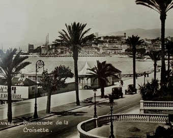 Unused Vintage French Postcard - Promenade de la Croisette, Cannes, France